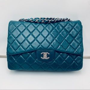 CHANEL 💙jumbo teal flap bag💙